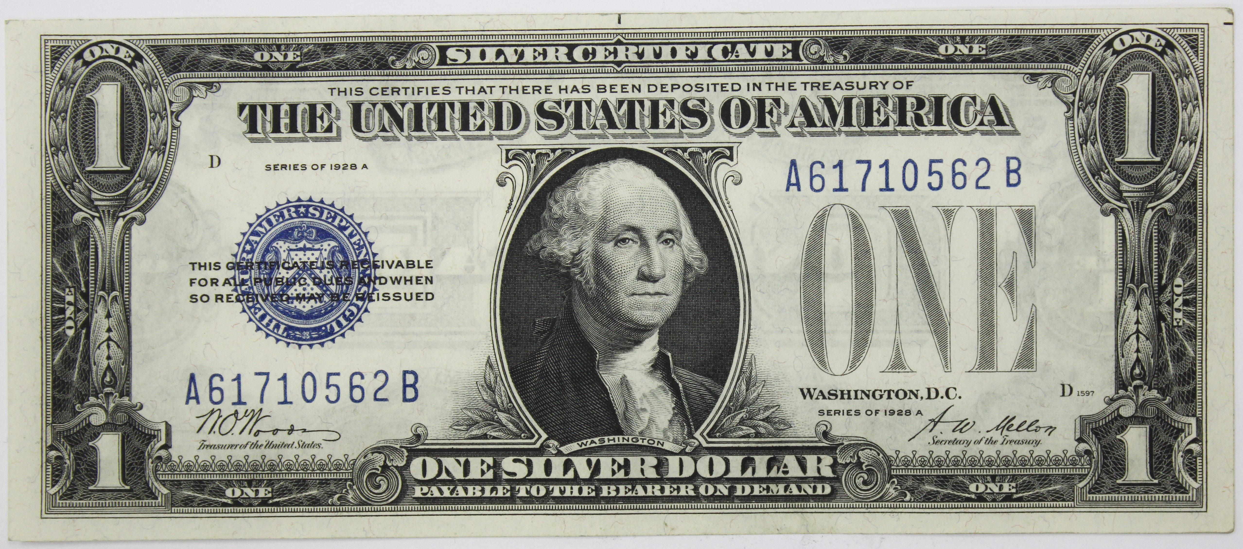 1928 B 1 Silver Certificate Buying Selling And Appraising Coins