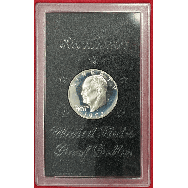 1972-S Eisenhower Dollar Brown Ike Silver Proof