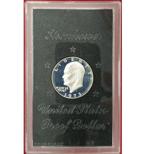 1973-S Eisenhower Dollar Proof Silver Brown Ike