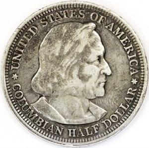 buy 1893 columbian exposition columbus silver half dollar