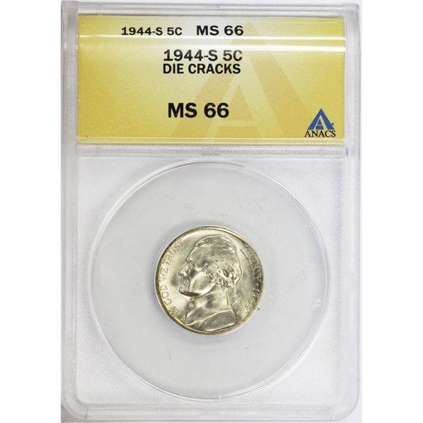 Buy 1944-S Silver War Nickel Jefferson Nickel