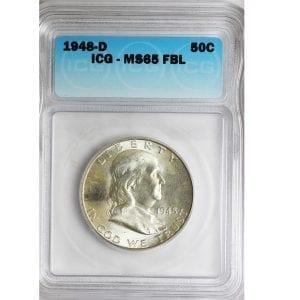 buy 1948-d franklin half dollar