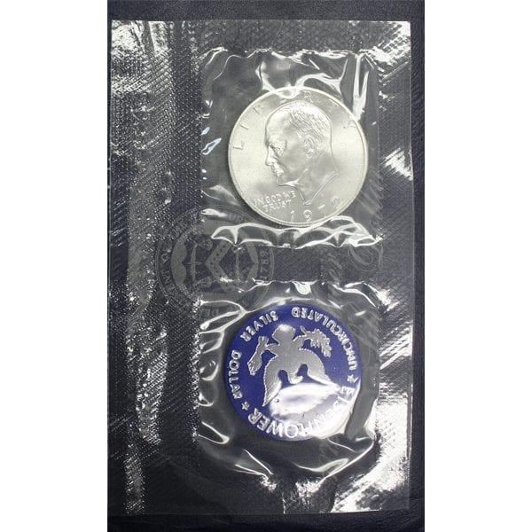 buy 1972-s eisehower silver dollar blue ike