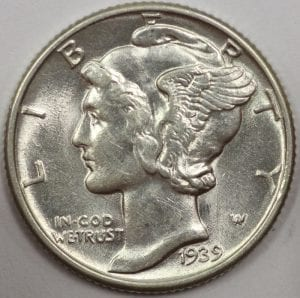 Buy Mercury Dime Portsmouth Ohio