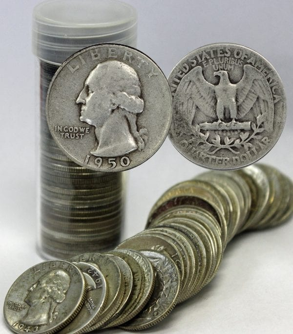 Buy Silver Washington Quarter Roll Portsmouth Ohio