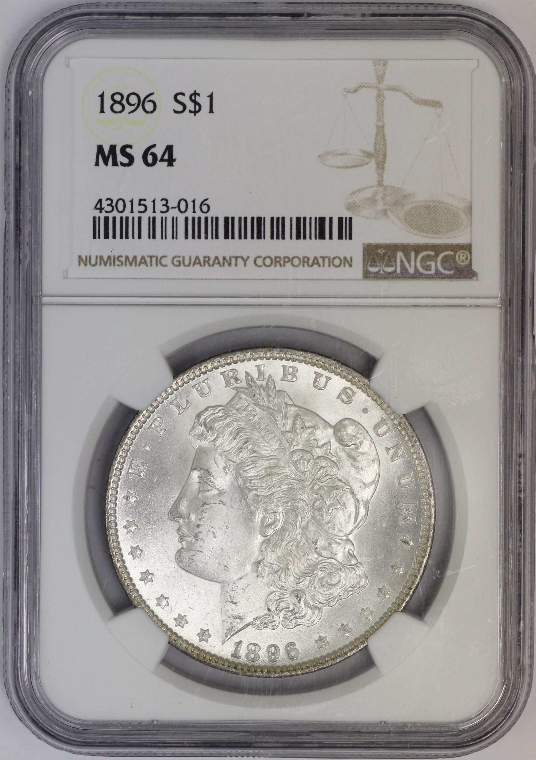 1900-O Morgan Silver Dollar NGC MS 64 White.